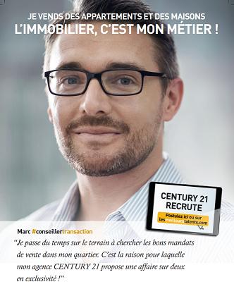 Nous recrutons un e conseiller e transaction century for Agence chez vous